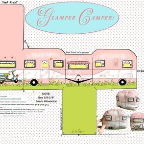 Pink Camper DIY Cut and Sew Toy