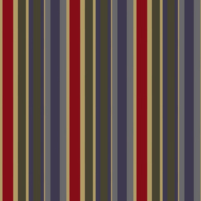Vintage Boathouse Vertical Stripes