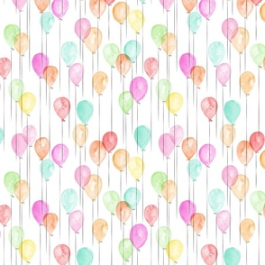 (small scale) watercolor multi balloons - birthday