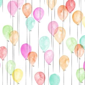 watercolor balloons in multi