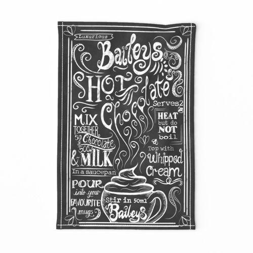 Baileys Hot Chocolate FQ Teatowel
