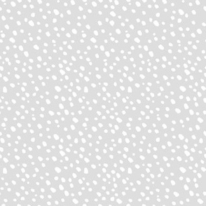 White Dots - Winter Snowfall - Small White Dots on Grey