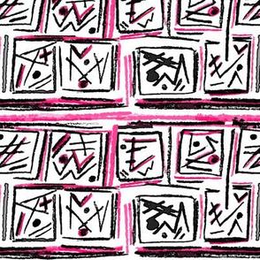 Alien Cuneiform Blocks - Pink