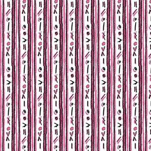 Alien Cuneiform Stripe - Pink