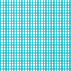 tiny gingham surfer blue