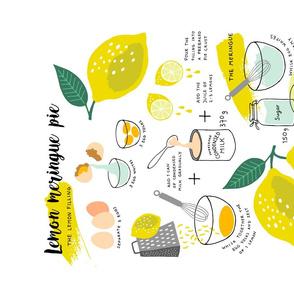 Lemon Meringue Pie recipe tea towel