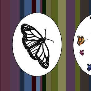 Butterflies - colour cut and sew cushion
