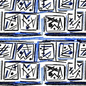 Alien Cuneiform Blocks - Blue