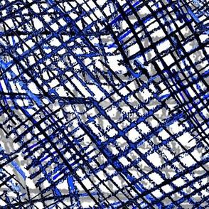 Alien Cuneiform Cloth - Blue