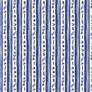 Alien Cuneiform Stripes - Blue