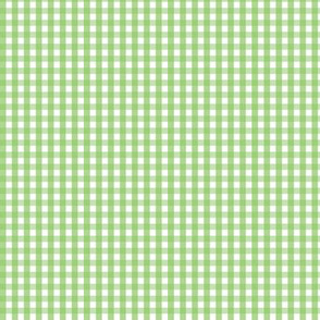tiny gingham apple green
