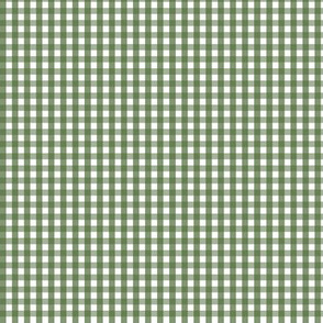 tiny gingham hunter green
