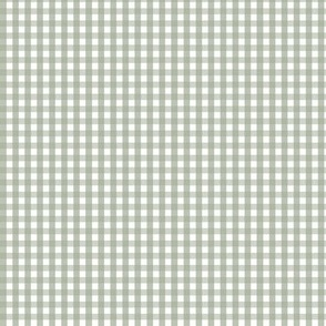 tiny gingham sage green