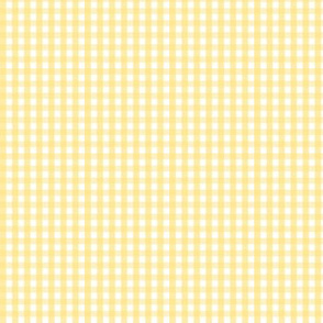 tiny gingham sunshine yellow