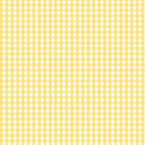 tiny gingham butter yellow