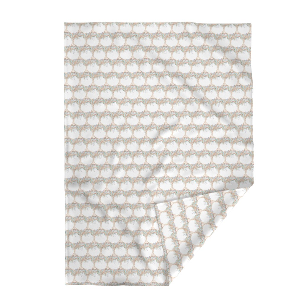Lakenvelder Throw Blanket featuring Dotted Tree White by creative_spaces