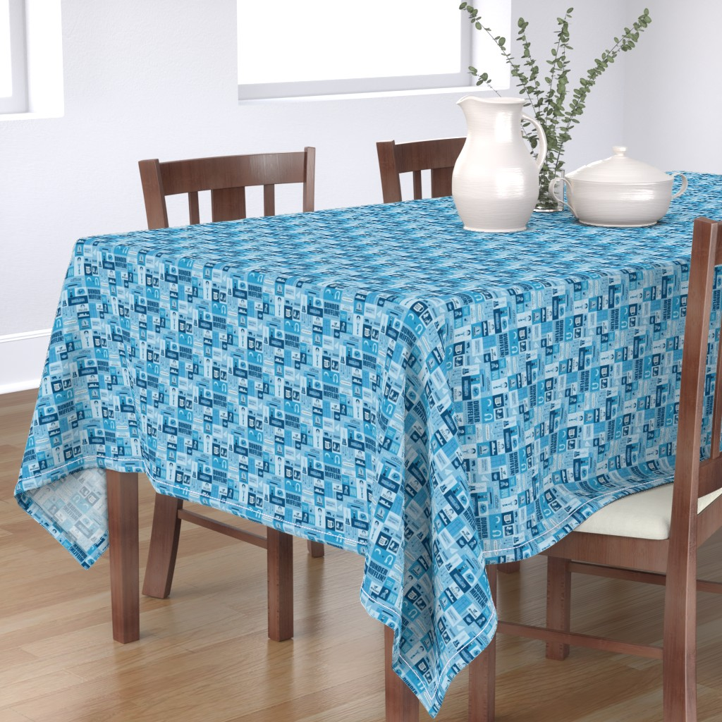 Bantam Rectangular Tablecloth featuring The Office Icons by nerdfabrics
