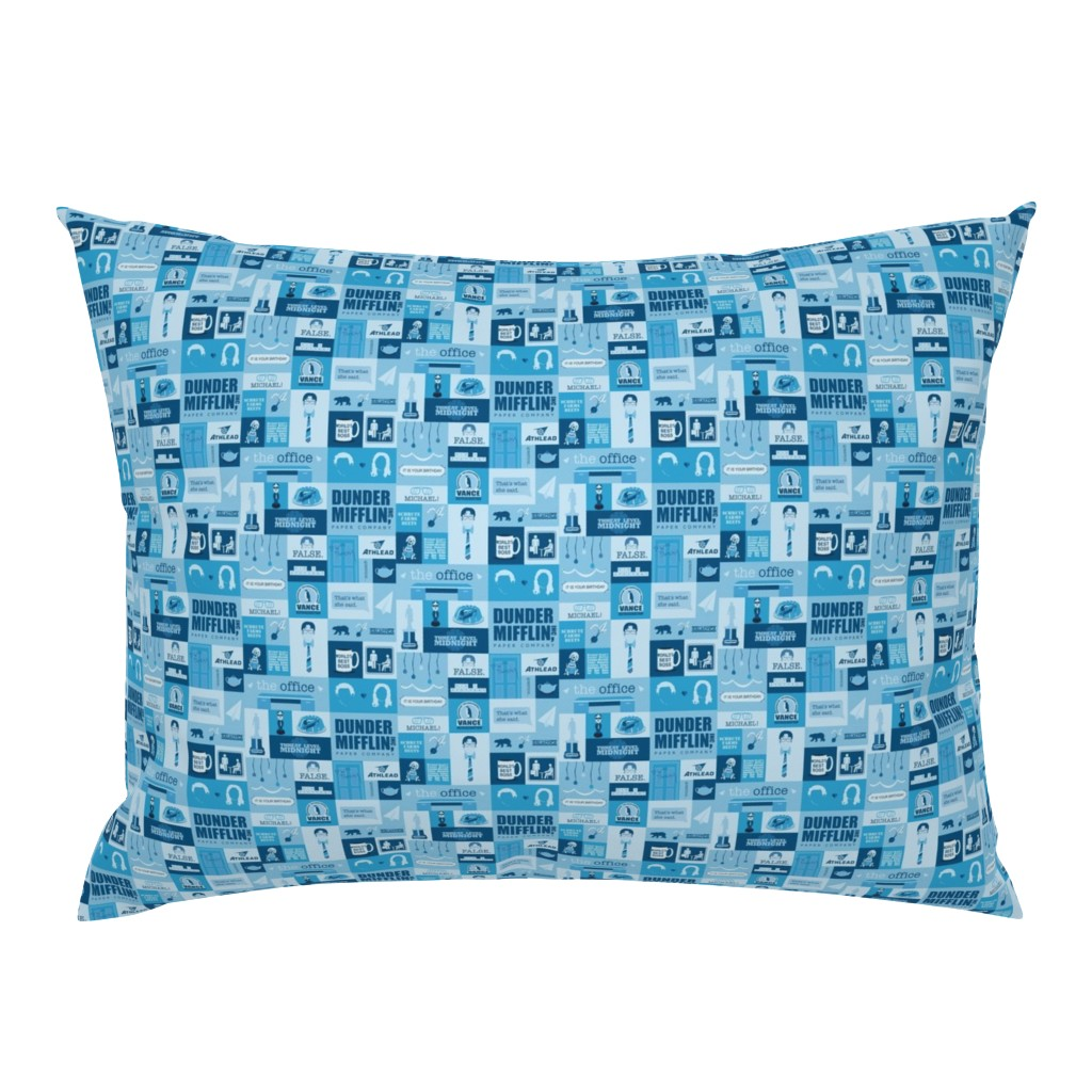 Campine Pillow Sham featuring The Office Icons by nerdfabrics