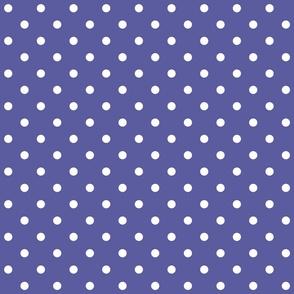 blue iris polka dots