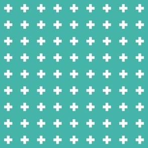 turquoise cross +