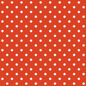 tangerine tango polka dots