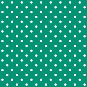 emerald polka dots