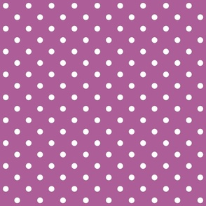 radiant orchid polka dots