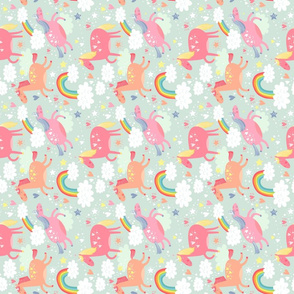 Unicorns & Rainbow flipped small