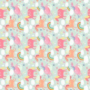 Unicorns & Rainbow flipped small