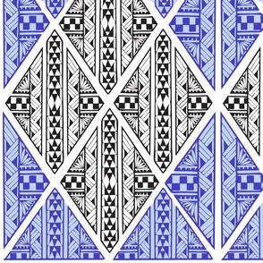 Polynesian Tattoo -black-blue