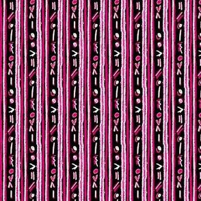Alien Cuneiform Stripe - Rev Pink