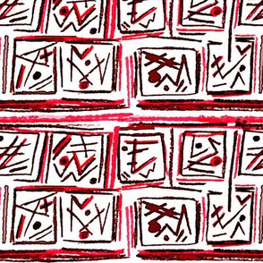 Alien Cuneiform Blocks - Red