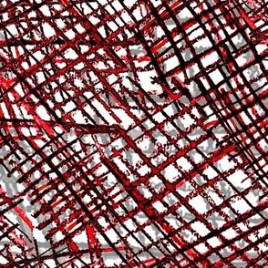 Alien Cuneiform Cloth - Red