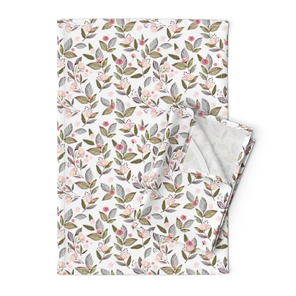 """Orpington Tea Towels featuring 8"""" Spring Floral Petal Pink Mix and Match Print by shopcabin"""