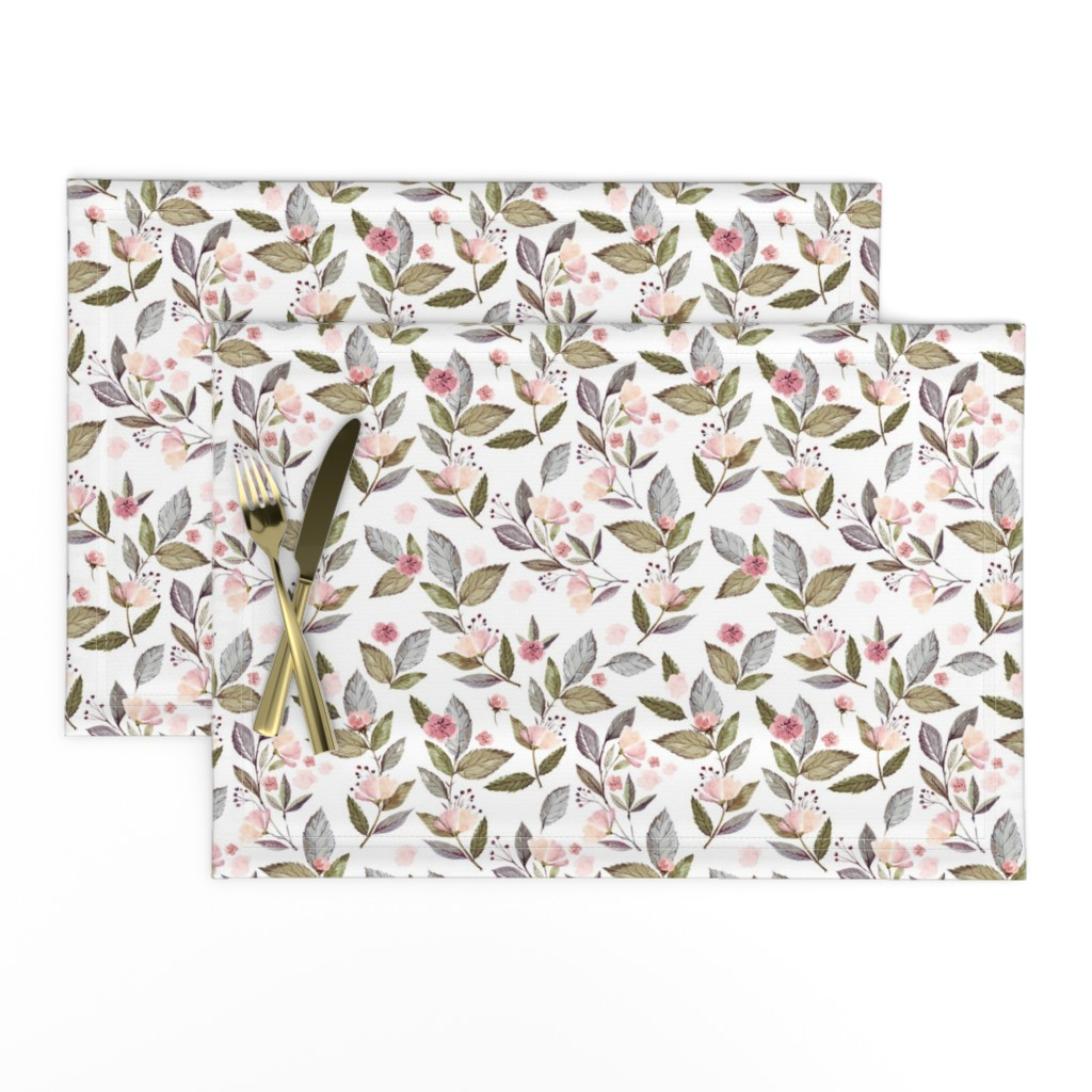 """Lamona Cloth Placemats featuring 8"""" Spring Floral Petal Pink Mix and Match Print by shopcabin"""