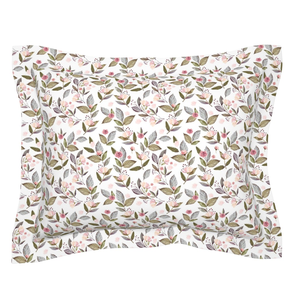 "Sebright Pillow Sham featuring 8"" Spring Floral Petal Pink Mix and Match Print by shopcabin"