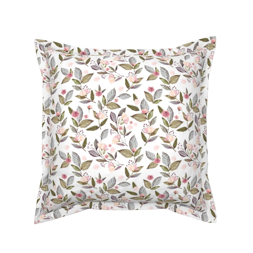 "Serama Throw Pillow featuring 8"" Spring Floral Petal Pink Mix and Match Print by shopcabin"