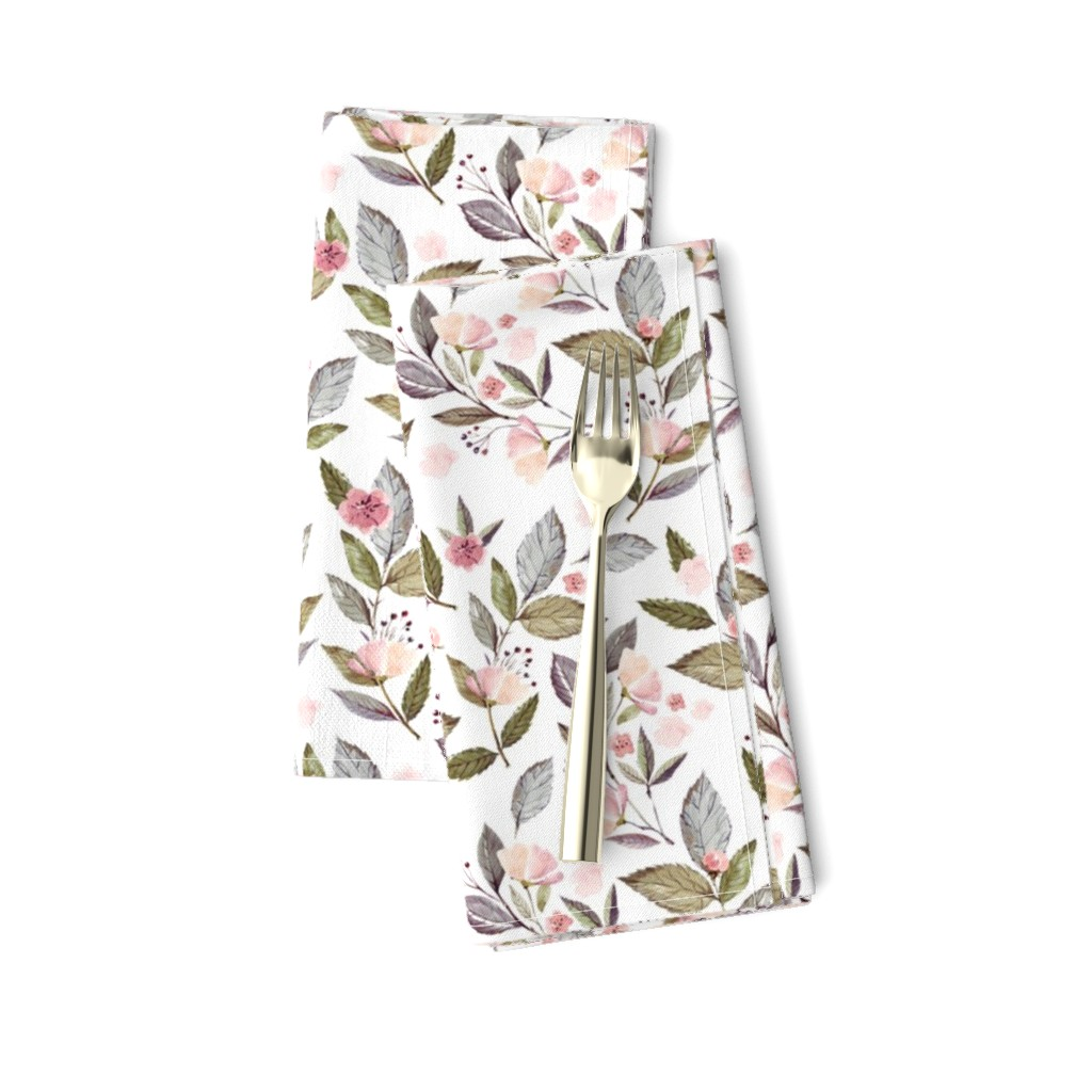 """Amarela Dinner Napkins featuring 8"""" Spring Floral Petal Pink Mix and Match Print by shopcabin"""