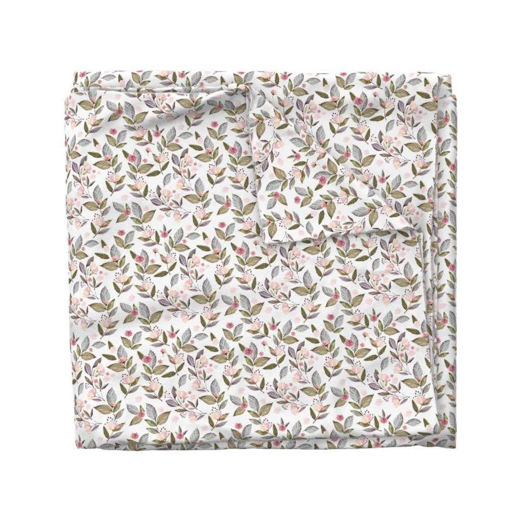 """Wyandotte Duvet Cover featuring 8"""" Spring Floral Petal Pink Mix and Match Print by shopcabin"""