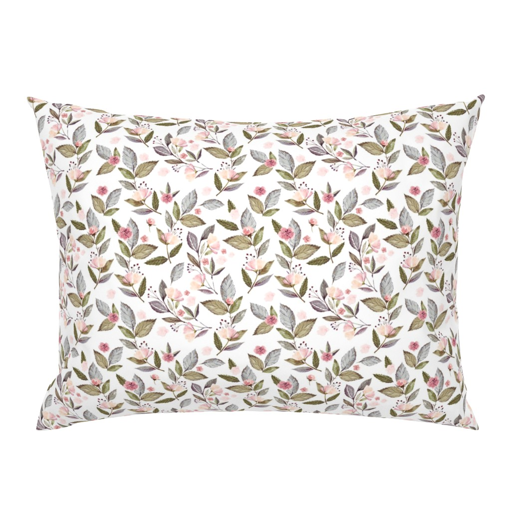"""Campine Pillow Sham featuring 8"""" Spring Floral Petal Pink Mix and Match Print by shopcabin"""