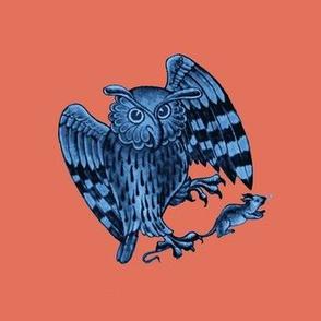 Owl Charms Terra Cotta