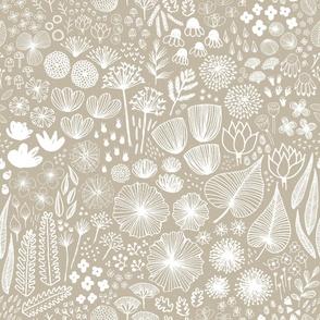 Botanical Sketchbook M+M Latte by Friztin