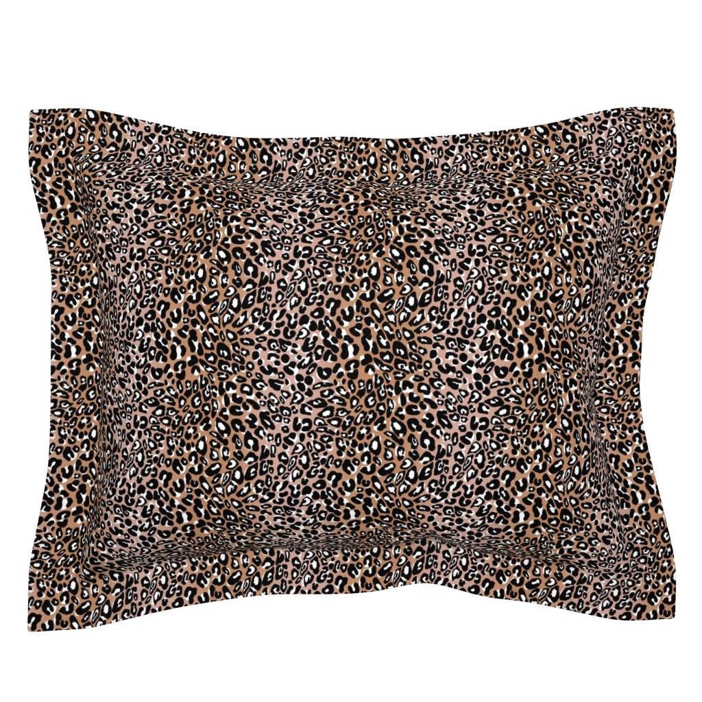 Sebright Pillow Sham featuring blush black leopard by cinneworthington