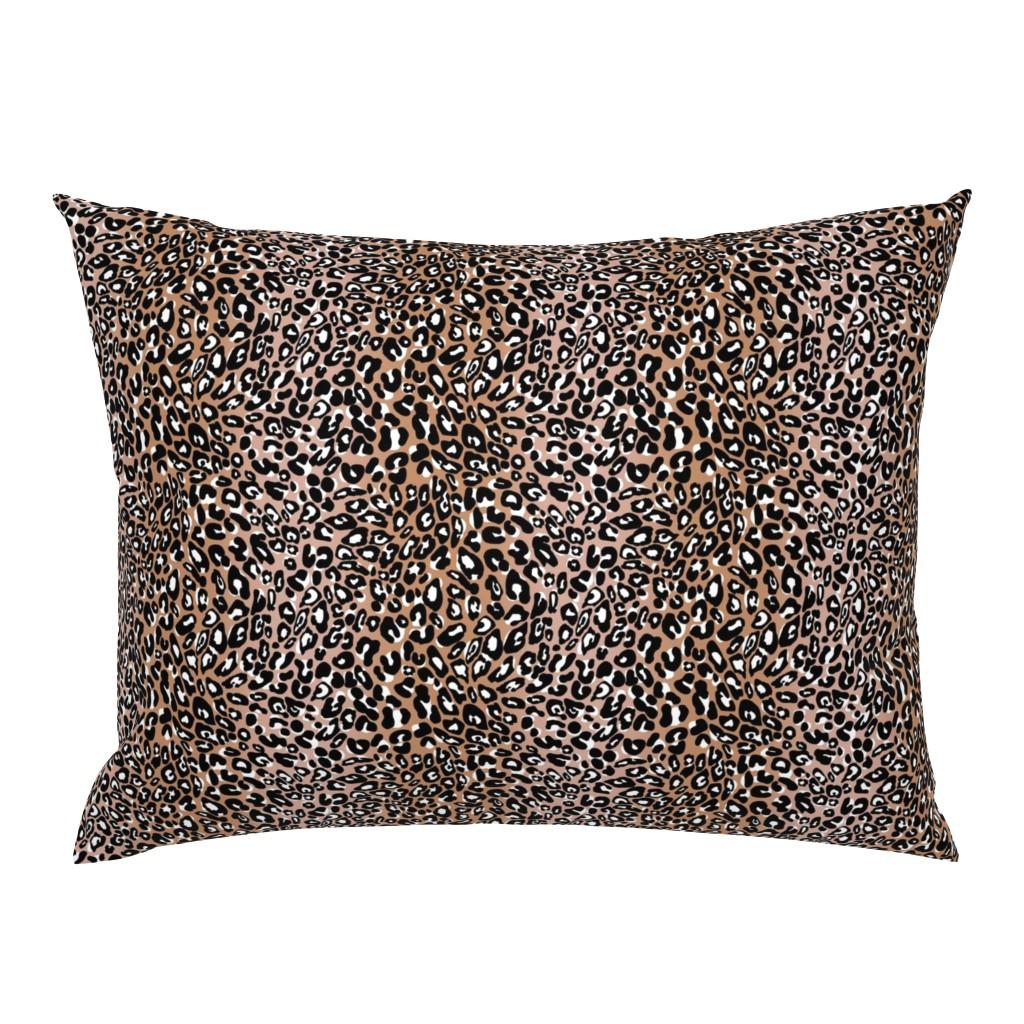 Campine Pillow Sham featuring blush black leopard by cinneworthington