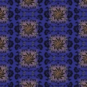 Victorian Animals Society Lady Dog Fabric Collection