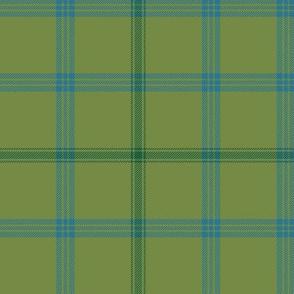 "Connacht/Connaught Irish District tartan #2, 6"" green"