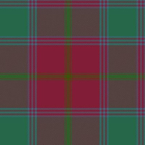 "Connacht/Connaught Irish District tartan #1, 6"" red/green"