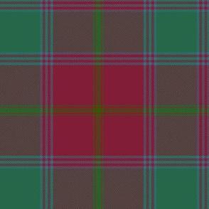 """Connacht/Connaught Irish District tartan #1, 6"""" red/green"""
