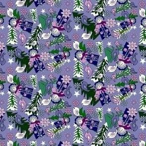 Morning Walk Karl Woodland Santa Fabric Collection