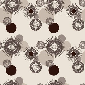Sparkling Circles - 4in (brown)